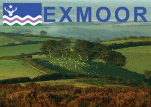 Exmoor Flag Postcard Landscape